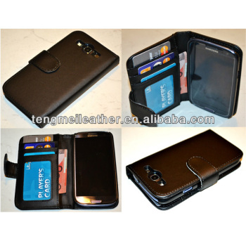 For Black Samsung Galaxy S3 Flip PU Leather ID Credit Card,Flip case for samsung galaxy S3 active