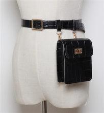 Mihaivina, винтажная Кожаная поясная сумка аллигатора, поясная сумка для женщин, роскошная поясная сумка, дизайнерская/черная поясная сумка, сум...(Китай)