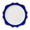 dark blue Gold rim