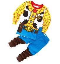 Детская Пижама из хлопка, пижамный комплект с героями мультфильмов «История игрушек», «древесный бас» и Лайтер, одежда для сна, 2019(Китай)