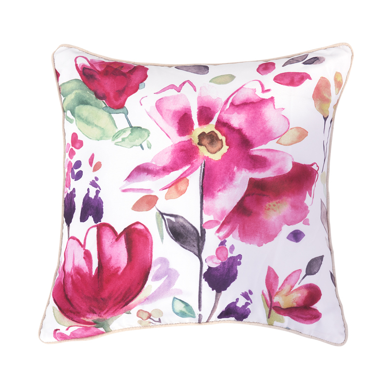 Colorful Pillows For Sofa: Hot Sale Modern Sofa Cushions Printed Colorful Floral