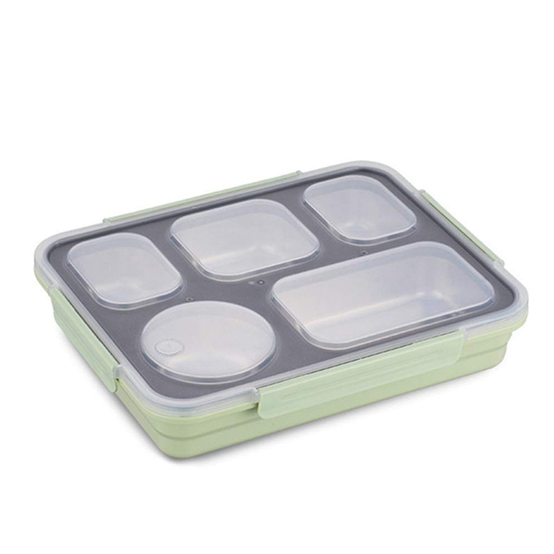 Amazon top seller durable BPA free leak-proof 3~5 compartments stainless steel student bento lunch box