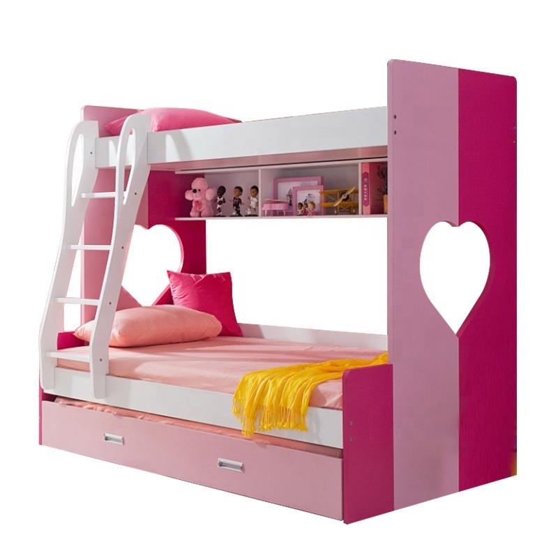 Cheap Mdf Kids Bunk Bed D802 Pink - Buy Cheap Kids Furniture Bunk