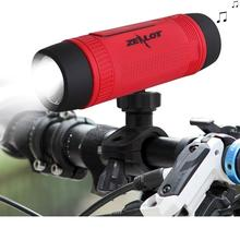 Orignal Zealot S1 Bluetooth Speaker + 4000mah power bank function + LED light for Outdoor Sport and Bicycle Mounting Bracket