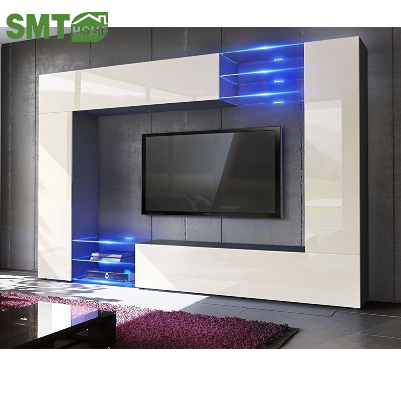 Modern Tv Stand Unit Large Screens Wall Mounted Livingroom Furniture Decoration With Led Lights High Gloss Buy Modern Tv Stand Unit Modern Tv Stand Unit Wall Mounted Tv Stand Led Lights High Gloss