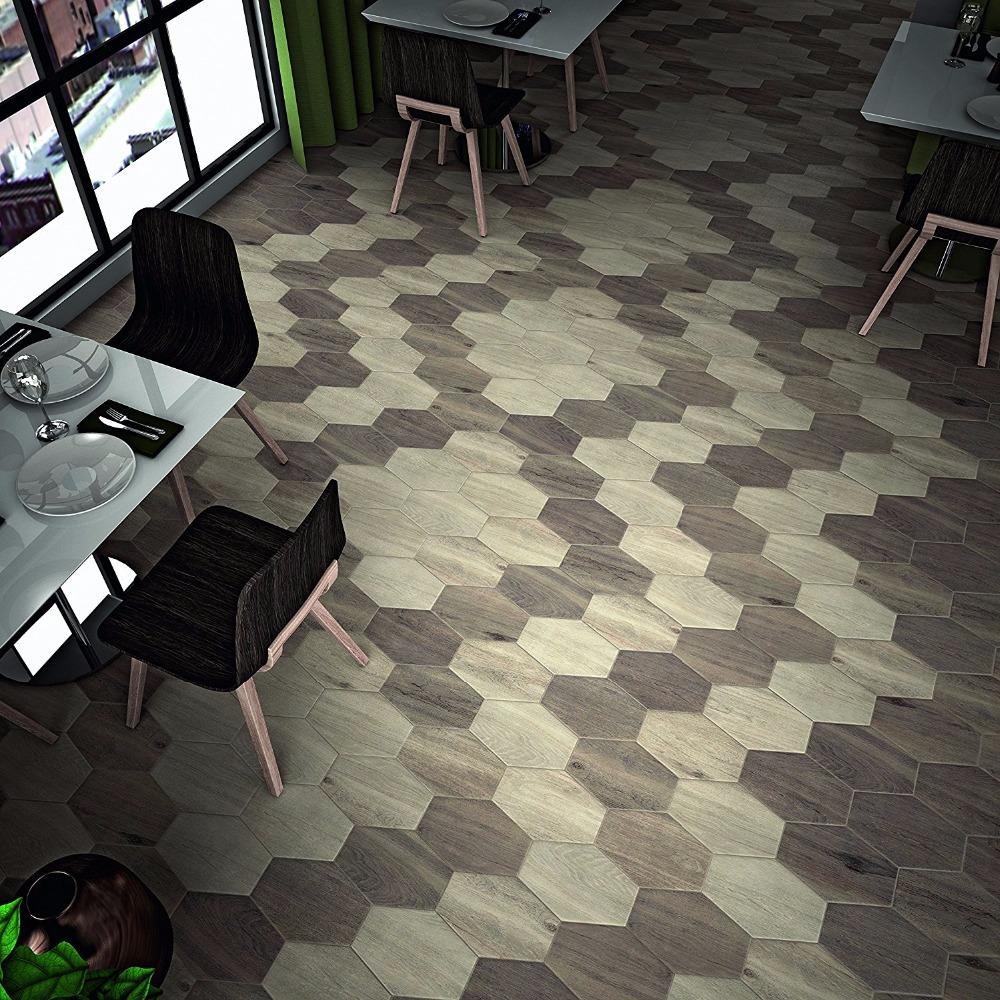 Hexagon Beehive Shaped Wooden Grain