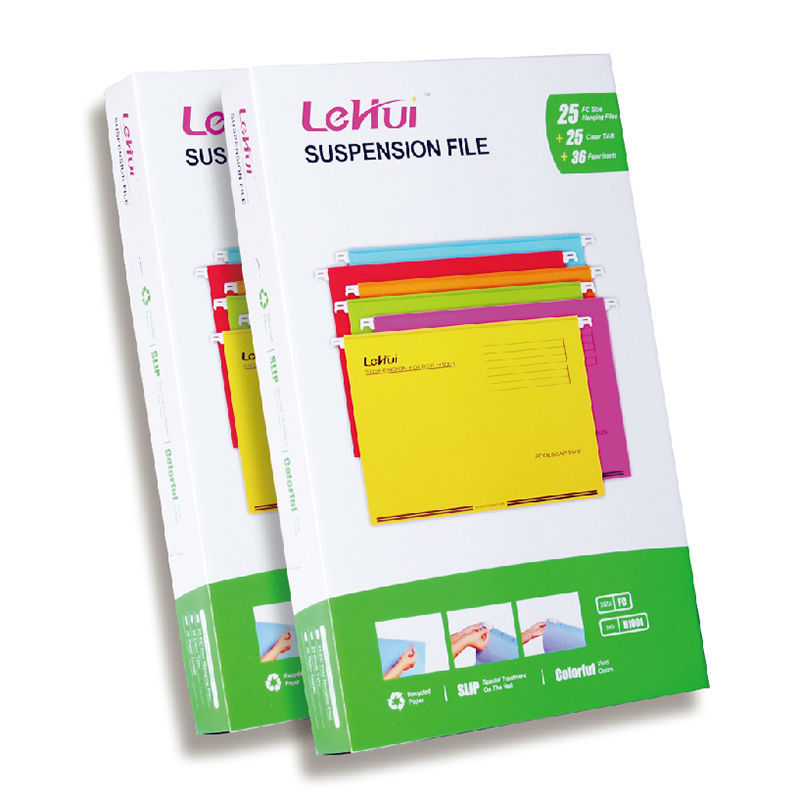 Paper Hanging File Folders with Reinforcement Tape on the Bottom