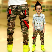 The new 2014 spring boys Camouflage children pants The boy's spring 2014 children in the new leisure trousers Free shipping!!!