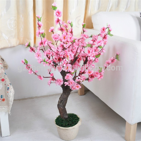 Artificial Small Cherry Blossom Tree With Pot For Indoor Decoration Buy Small Cherry Blossom Tree Indoor Decoration Tree Artificial Tree With Pot Product On Alibaba Com