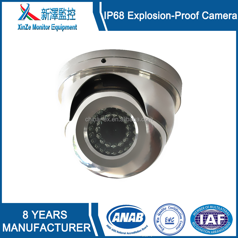 Wholesale Explosion proof infrared half dome cctv camera for  Gas Station