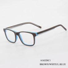 Кирка модные очки оправа прозрачные линзы оптические очки ацетат коричневый синий оправа для очков для женщин и мужчин(Китай)