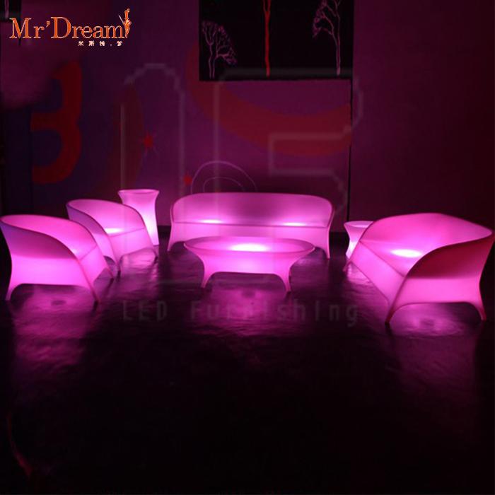 Быстрая доставка, меняющая цвет, водонепроницаемая садовая мебель со светодиодной подсветкой для гостиной