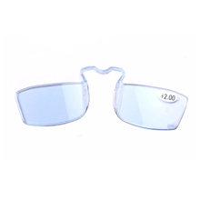 Мини очки для чтения модный SOS кошелек зажим очки для чтения унисекс Высокое качество Портативный нос очки для чтения диоптрий 1,0-3,0(China)