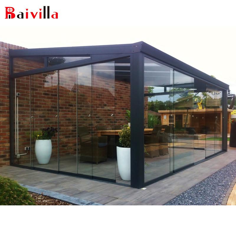 Новейший дизайн, сборный стеклянный садовый домик, солярий с алюминиевым экструзионным профилем, сборный Солярий