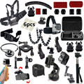 Monopod tripod Gopro Accessories kit for go pro hero black 4 3 SJCAM SJ4000 xiaoyi 4K