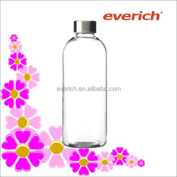 1l glas trinkwasser flasche glas trinkflaschen mit deckel trinkflasche mit s s deckel glas. Black Bedroom Furniture Sets. Home Design Ideas
