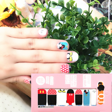White Rad min Mouse child Nail Arts Nail Sticker Waterproof Nail Decal Sticker Gel Polish French