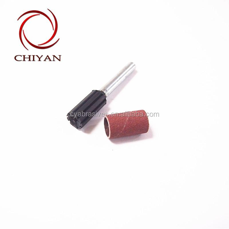 Резиновые оправки со спиральной лентой-шлифовальные барабаны/шлицевые (Вал: 6 мм)/держатель шлифовальных лент 10 мм x 20 мм