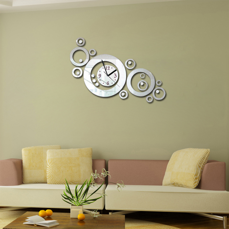 2016 Rushed Living Room Acrylic Wall Clock Clocks Reloj De ...