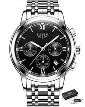 Новинка 2020 LIGE женские часы из розового золота, Бизнес Кварцевые часы, дамские Роскошные Брендовые женские наручные часы, часы для девушек, ...(Китай)