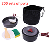 200 sets of pots