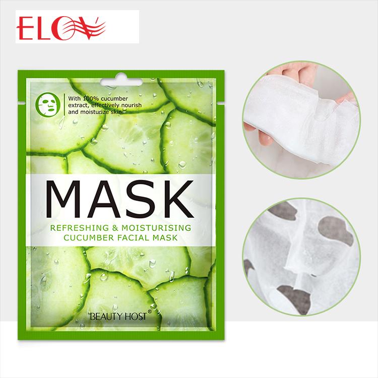 Wholesale Skin Care Korea Moisturizing Oil Control Cucumber Facial Face Mask Popular Hydrating Lifting Fruit Organic Facial Mask