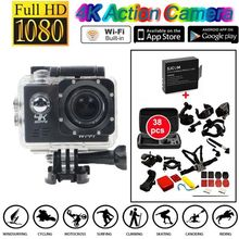 Free shipping!4K 30 fps IMX179 WiFi Action Camera+38 in1 Accessories+Extra Battery