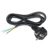 3pin 2pin Colorful PVC european standard power cord  extension cord  with 3 p plug to open wire