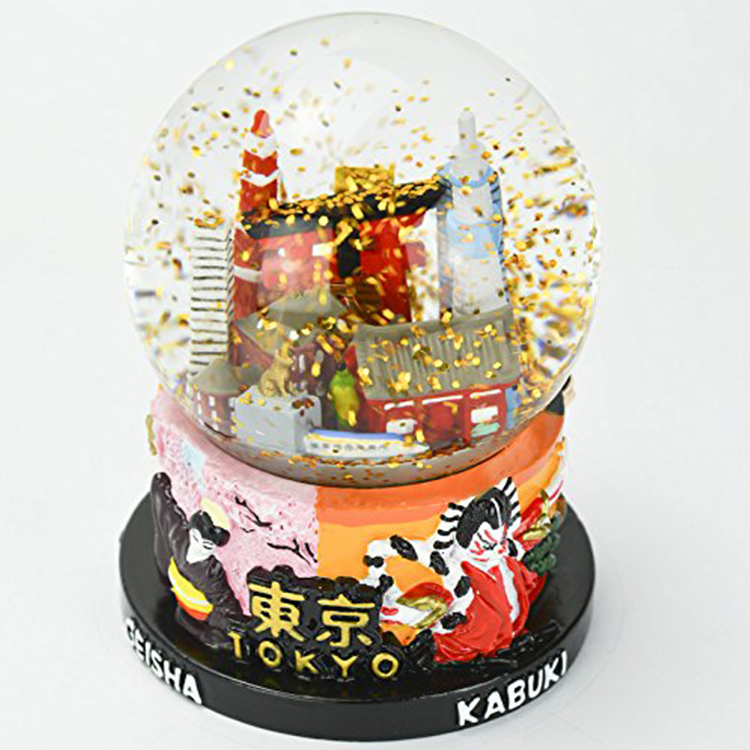 resin japan souvenirs snow globes
