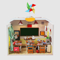 Handmade Doll House Diy miniature Wooden Dollhouse miniaturas Furniture House Doll Toys For Children Birthday Gift