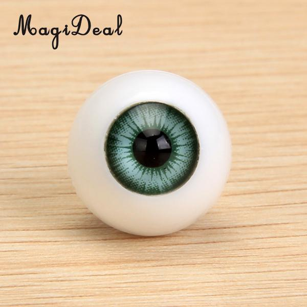 8pcs 16mm Colorful Round Acrylic Doll Eyes Eyeballs for Doll DIY Making Accs