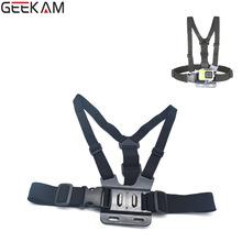 GEEKAM Go Pro Adjustable Chest Body Harness Belt Strap Mount Tripod J-Hook Buckle For Gopro HD Hero 4 3 3+ 2 Camera Accessories