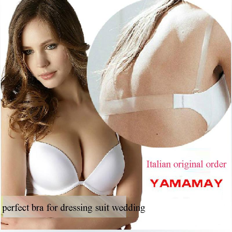 2014 new fashion women 39 s bra back of transparent shoulder strap halter neck bra backless sexy. Black Bedroom Furniture Sets. Home Design Ideas