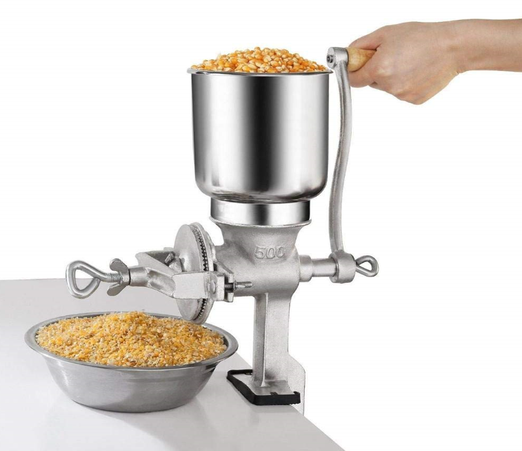 U.S Solid Manual Grain Grinder Cast Iron Grain Mill Hand Crank for Wheat Corn Coffee Nuts with Table Clamp
