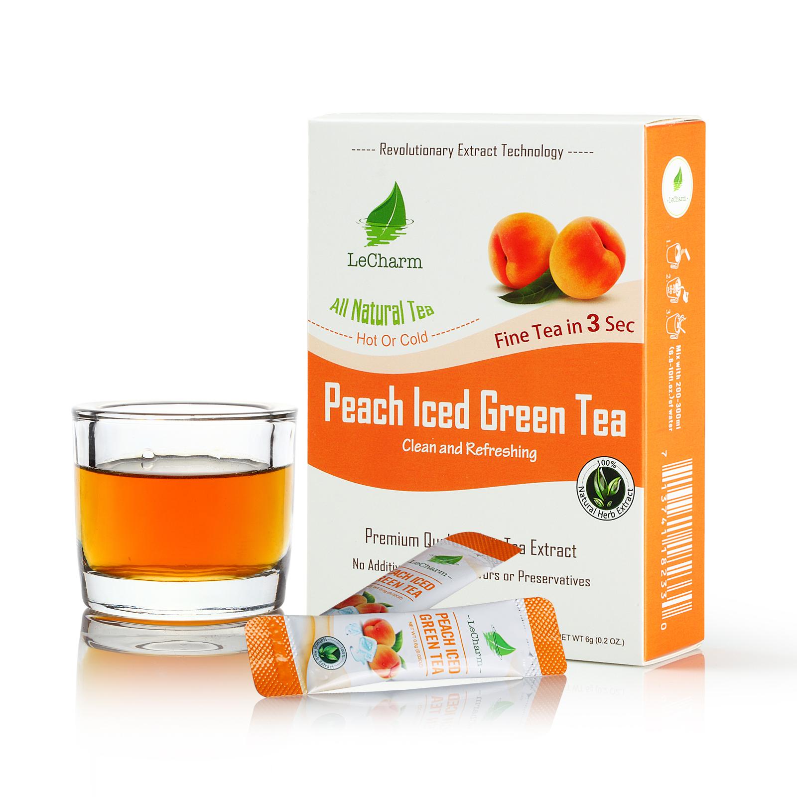 100% Natural Fruit Extract Peach Mix Green Tea Drink - 4uTea   4uTea.com