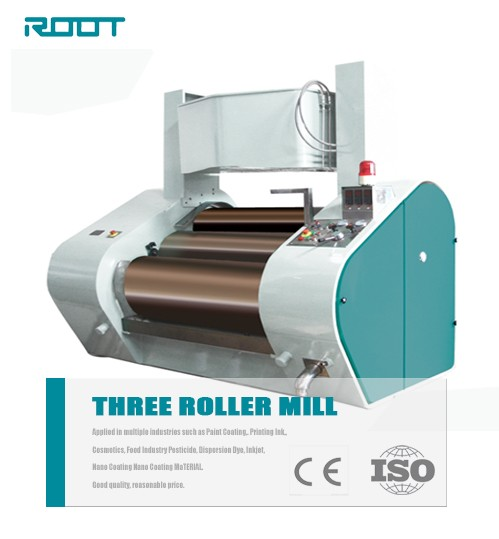 Root chocolate grinding equipment / 3 rollers mill for chocolate grinding use