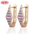 Korean Style Fancy Rhombus Colored Hoop Earrings For Party Girls