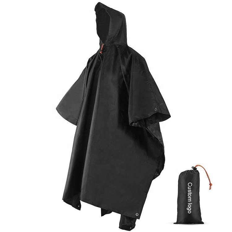 3-10 PCS Emergency Rain Poncho Plastic Rain Coat Extra Thicker Hiking Camping