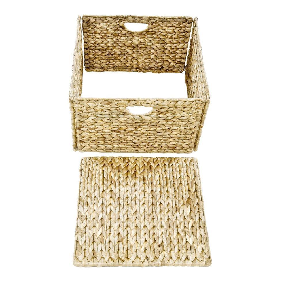 Hand-Woven Water Hyacinth Storage Baskets