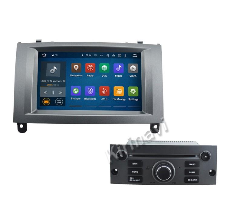 kirinavi wc pt7407 android 5 1 dvd de voiture cran tactile gps pour peugeot 407 2004 2010. Black Bedroom Furniture Sets. Home Design Ideas