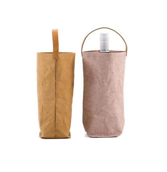 Рекламный логотип на заказ, держатель для бутылок с красным вином и пивом, хранилище для напитков, сумка-тоут из вощеной холщовой ткани с ручкой
