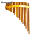Pan Flute 18 Pipes Natural Bamboo Wind Instrument Panpipe Key Flauta Xiao Handmade Pan flute Flauta