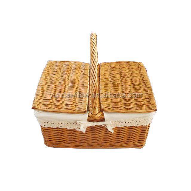 Мини Набор плетеных корзин для пикника