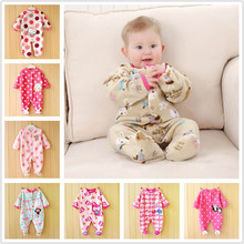 Cute Cartoon Pink newborn baby girls clothing baby jumpsuits newborn baby rompers for newborns children's clothes pink rompers