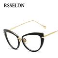 RSSELDN New Brand Women Optical Glasses Spectacle Frame Cat Eye Eyeglasses Anti fatigue Glasses Eyewear Oculos