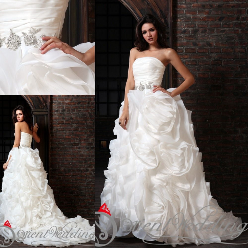 Western Style Wedding Gowns: Sparkly Luxury Country Western Style Custom Made China