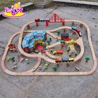 Toy Train Wooden Toy Train New Style 142 Pcs Children Construction Toy Wooden Toy Train Track W04C072