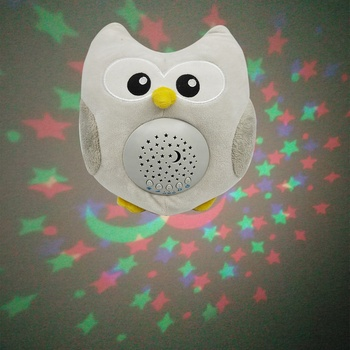 Starry Projector Sound Machine, Owl Projector Plush Toy For Baby Sleep Aid With 15 Lullaby Music Relax Timer Cry Sensor
