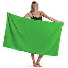 Solid Color Towel Customized Color Wholesale Cotton Solid Color Soft Terry Custom Logo Beach Towel