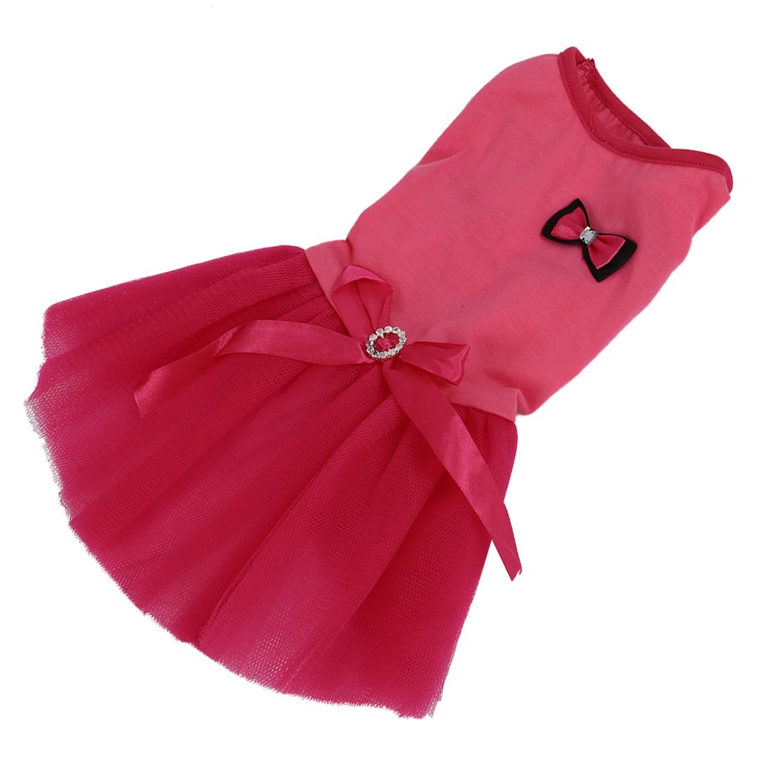 MYLB-Прекрасный Розовый Принцесса Туту Платье Лук Пузырь Юбка Щенок Одежда Собака Платье Одежда (L)